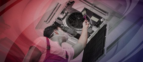 HVAC technician providing duct cleaning