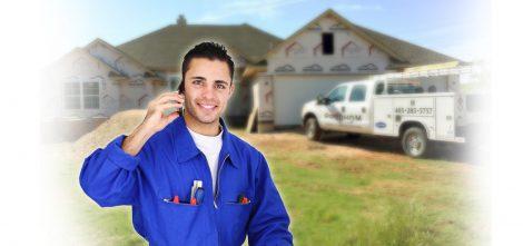 HVAC tech on a service call dispatching team